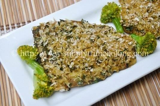herb crusted fish