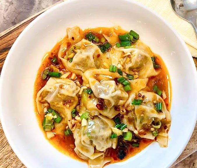 spicy beef steamed wontons